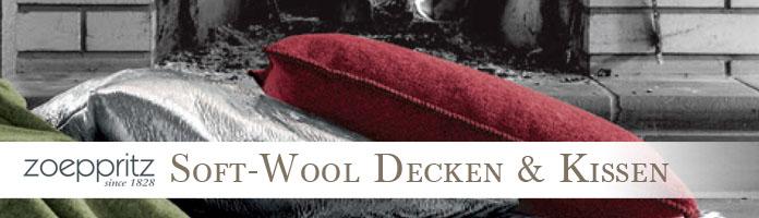 Soft-Wool Decken & Kissen