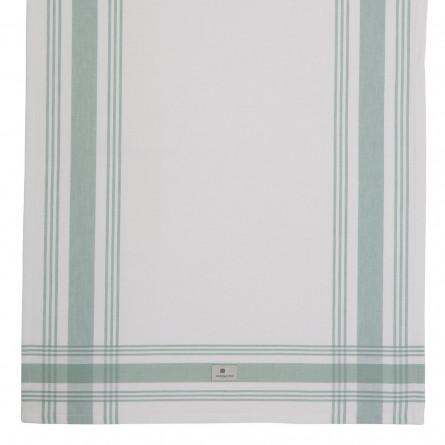 Lexington gestreiftes Küchentuch Hotel Framed Kitchen Towel weiß/grün (50x70 cm)
