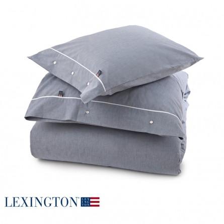 Lexington Bettwäsche Poplin Piping blau