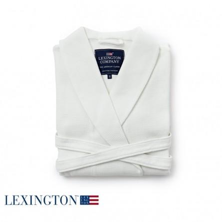 Lexington Bademantel Patty Waffle Robe in weiß