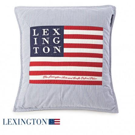 Lexington Dekokissen Arts & Crafts Logo blau