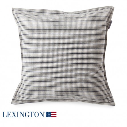 Lexington Dekokissen Checked weiß quadratisch