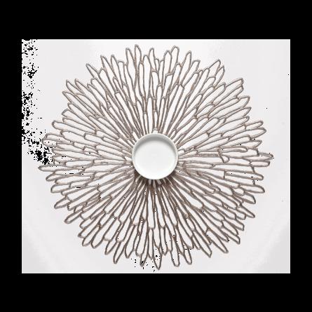 Chilewich Tischset Bloom silber -002 (36x48 cm)