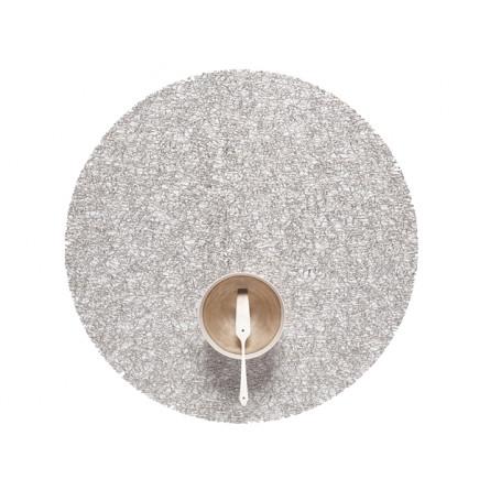 Chilewich Tischset Metallic Lace rund silver