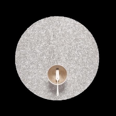 Chilewich Tischset Metallic Lace rund silber -001 (Ø 39cm)