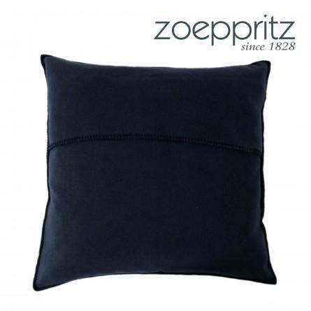 Zoeppritz Dekokissen Soft-Fleece dunkelblau