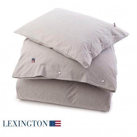 Lexington Bettwäsche Country Washed Poplin Stripe grau