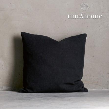 Tine K Home Dekokissenbezug Deco Plain schwarz quadratisch