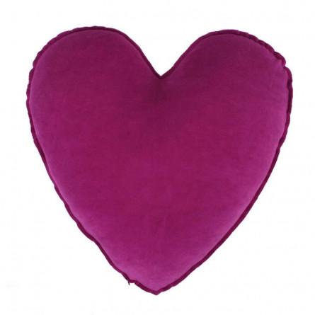 Farbenfreunde Herz-Dekokissen fuchsia