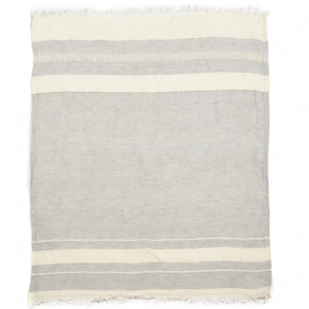 Libeco Leinen Gästehandtuch 2er Pack The Belgian Towel Gent Stripe (55x65cm)