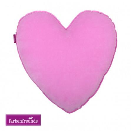 Farbenfreunde Herz-Dekokissen zuckerwatte