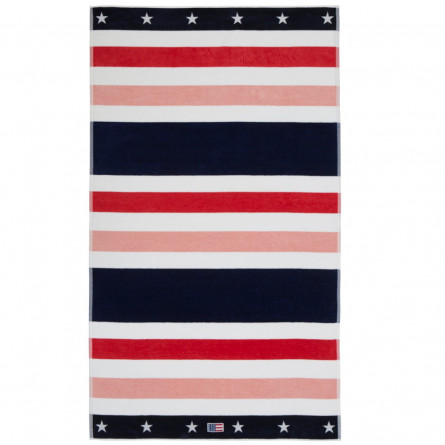 Lexington Strandtuch Multi Striped Velour Beach Towels rot (100x180cm)