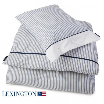 Lexington Bettwäsche Poplin Stripe blau