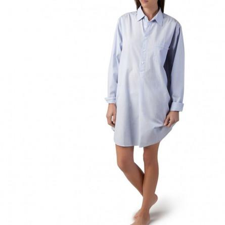Lexington Basic Nachthemd hellblau / weiß gestreift (S)