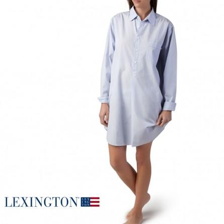 Lexington Basic Nachthemd hellblau gestreift