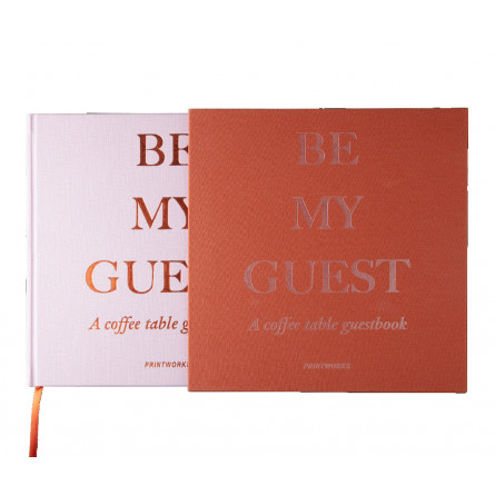 """Printworks Gästebuch """"Be my Guest"""" rost/rosa"""