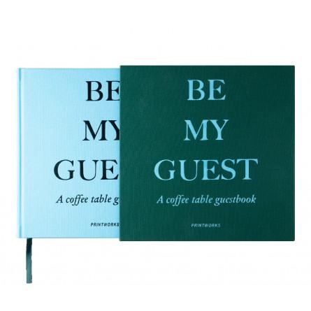 "Printworks Gästebuch ""Be my Guest"" grün/blau"