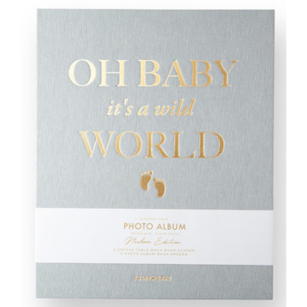 "Printworks Coffee Table Photo Album ""Oh Baby it's a wild World"""