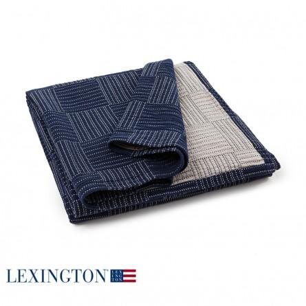 Lexington Bettüberwurf Soft Quilt blau/beige