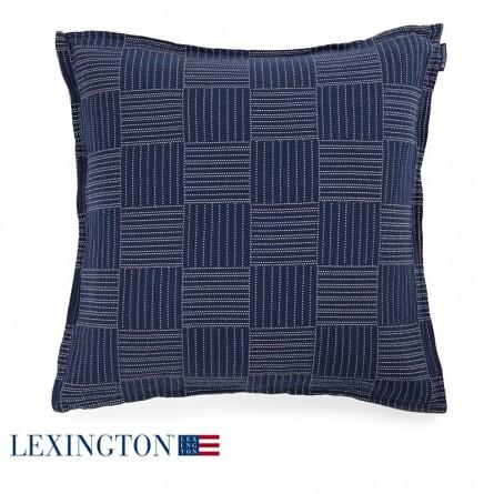 Lexington Dekokissen Soft Quilt blau/beige quadratisch