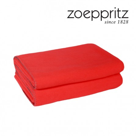 Zoeppritz Soft Fleece Plaid Neon Orange