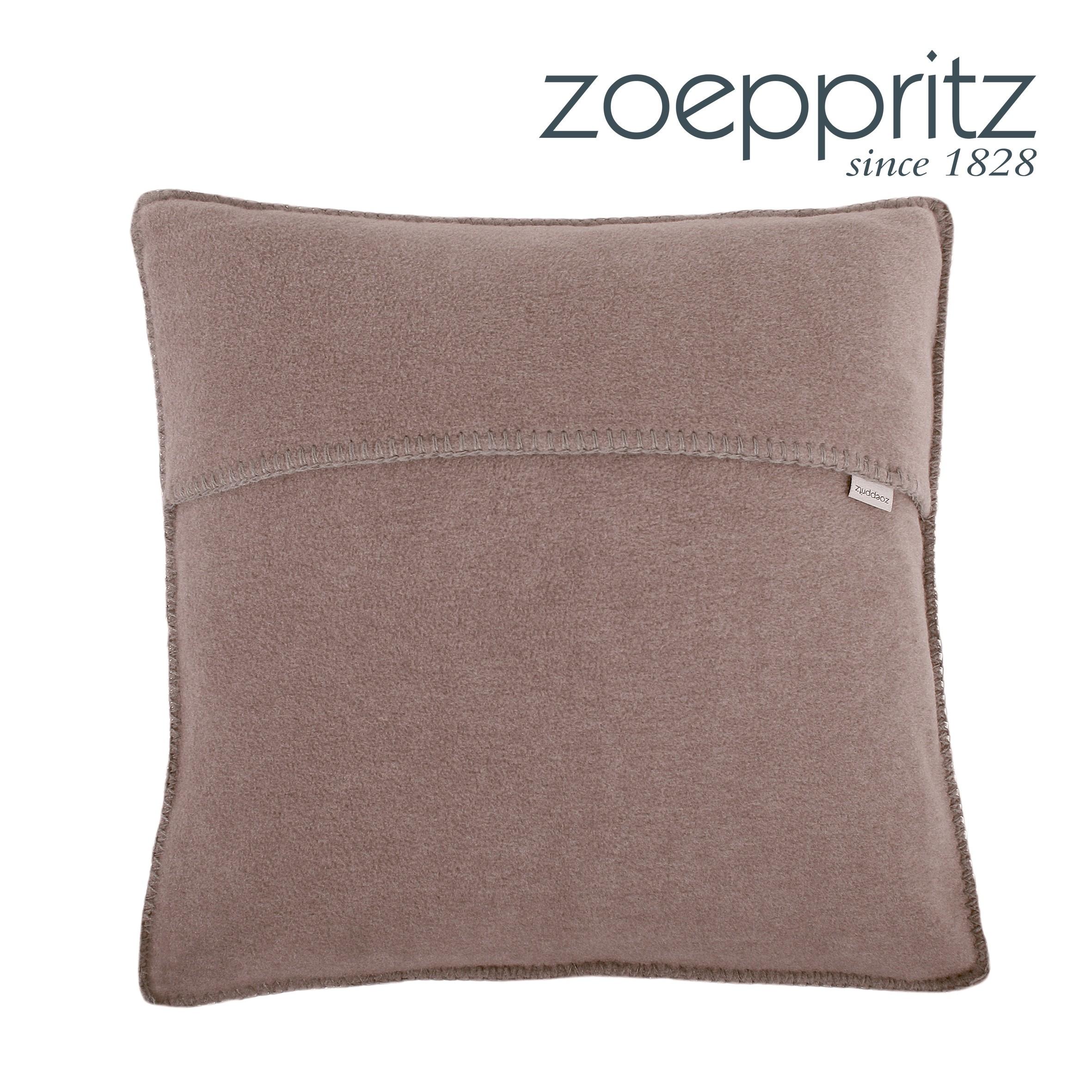 zoeppritz dekokissen soft fleece smoke dunkel. Black Bedroom Furniture Sets. Home Design Ideas