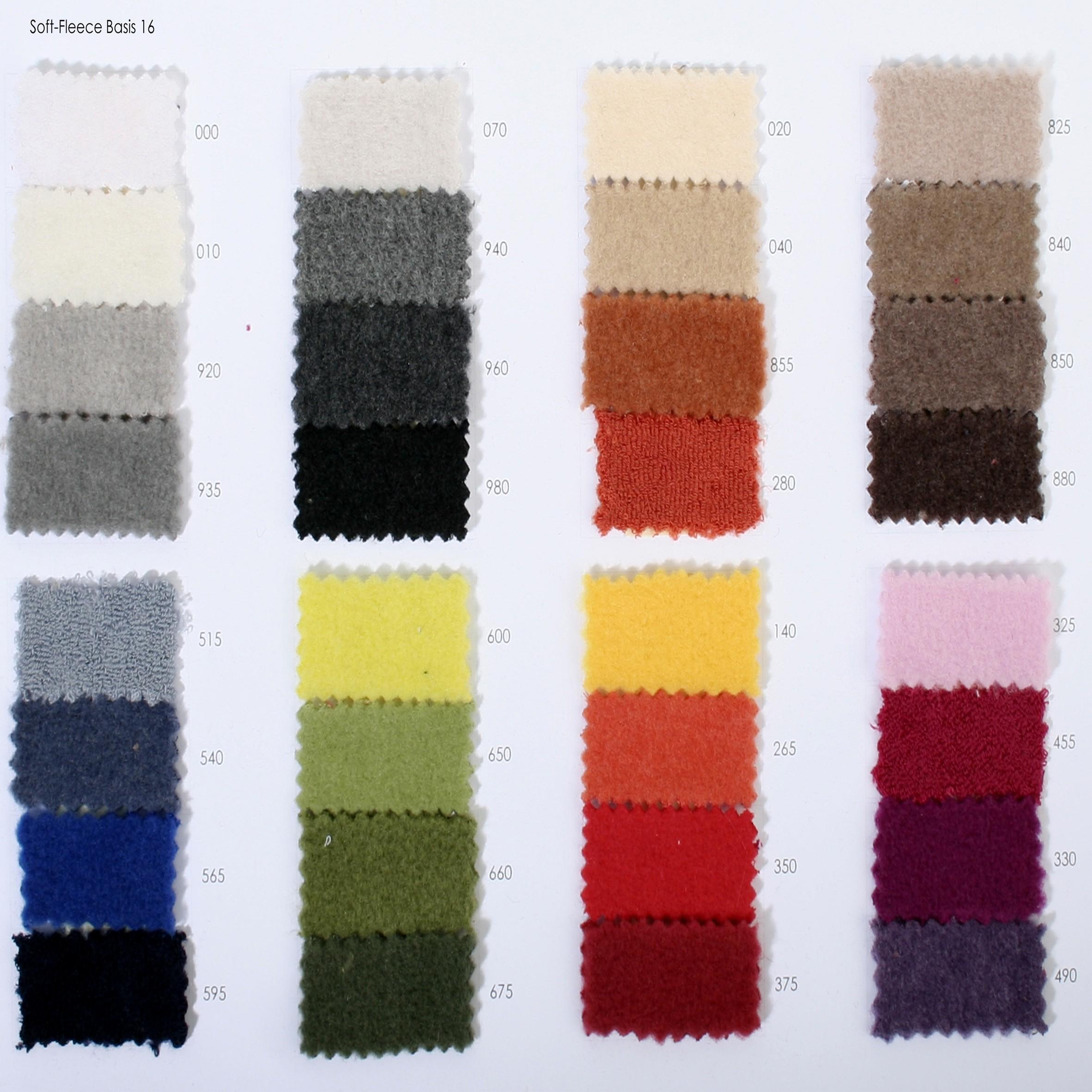 Zoeppritz Farbkarte Soft Fleece
