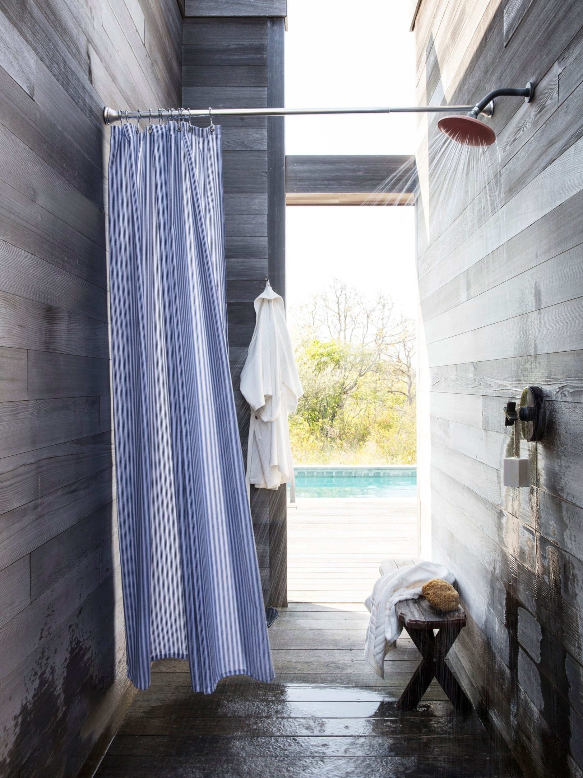 lexington duschvorhang blau wei. Black Bedroom Furniture Sets. Home Design Ideas