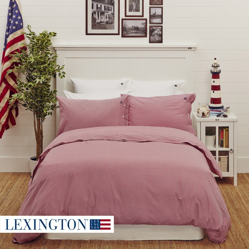 lexington bettw sche american seaside check rot wei. Black Bedroom Furniture Sets. Home Design Ideas