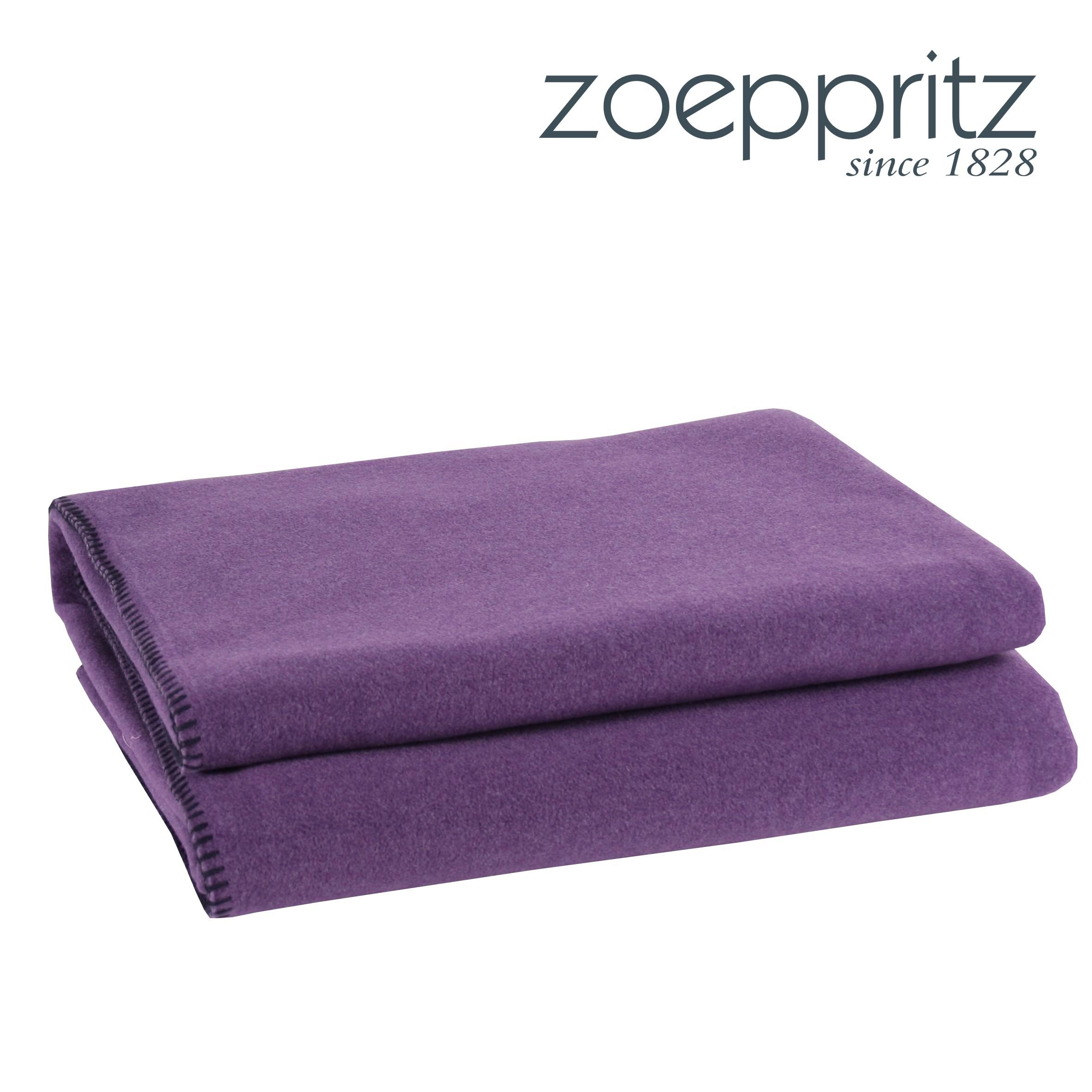 zoeppritz plaid soft fleece purple. Black Bedroom Furniture Sets. Home Design Ideas