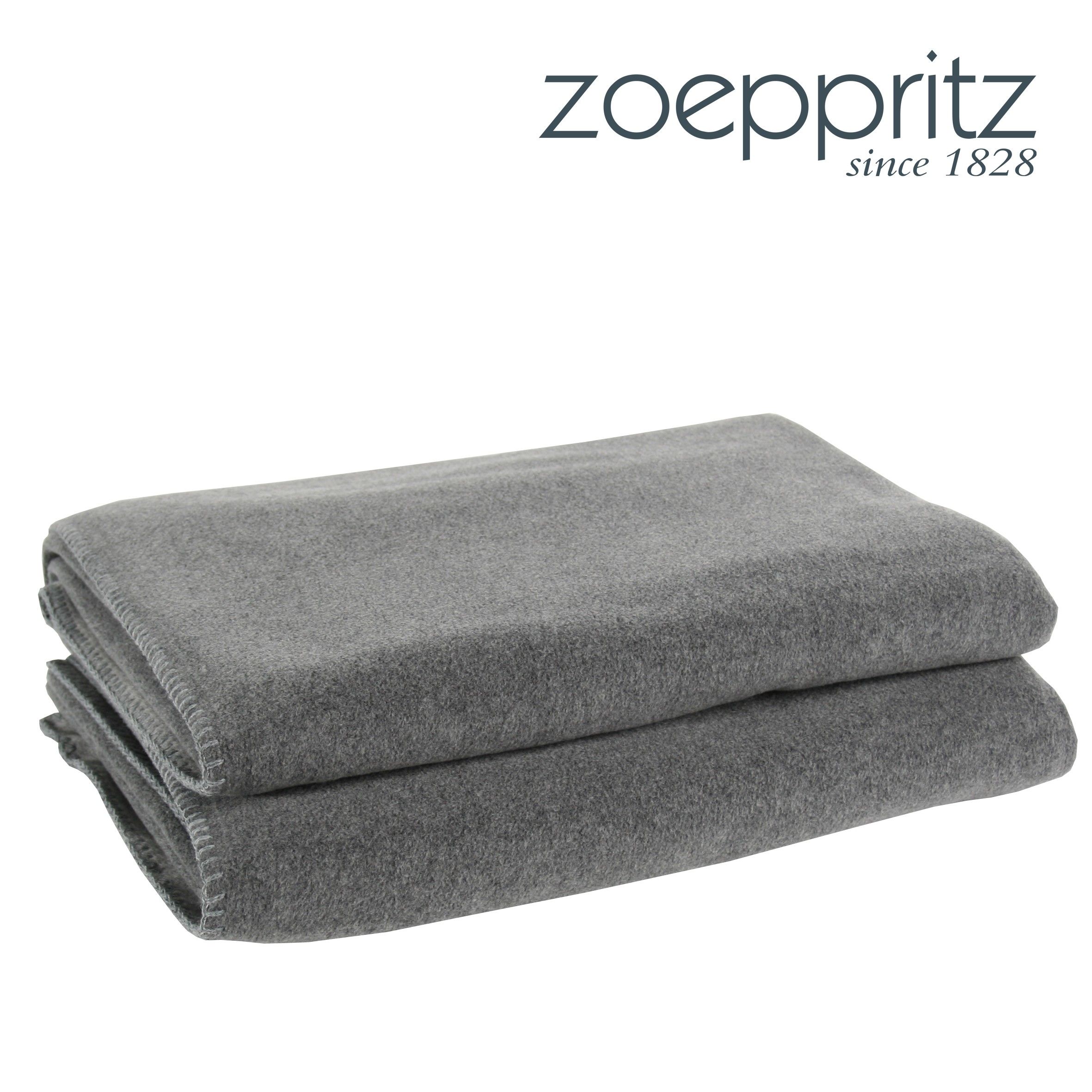 zoeppritz plaid soft fleece mittelgrau. Black Bedroom Furniture Sets. Home Design Ideas