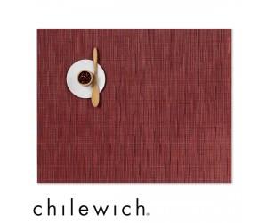 Chilewich Set Rechteckig Bamboo cranberry
