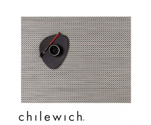 Chilewich Set Rechteckig Basketweave aluminium