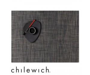 Chilewich Set Rechteckig Basketweave carbon