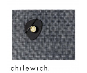 Chilewich Set Rechteckig Basketweave denim