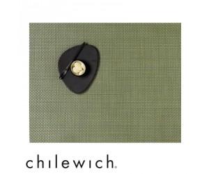 Chilewich Set Rechteckig Basketweave gras grün