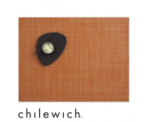 Chilewich Set Rechteckig Basketweave papaya