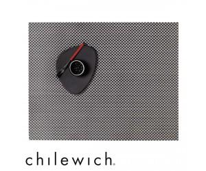 Chilewich Set Rechteckig Basketweave titanium