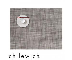 Chilewich Set Rechteckig Mini Basketweave gravel