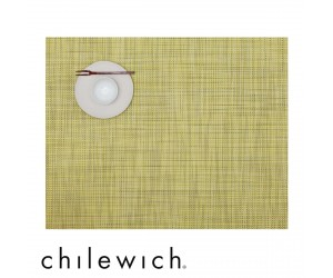 Chilewich Set Rechteckig Mini Basketweave lemon