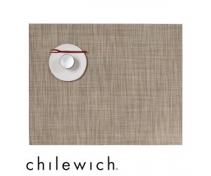Chilewich Set Rechteckig Mini Basketweave linen