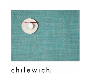 Chilewich Set Rechteckig Mini Basketweave turquoise