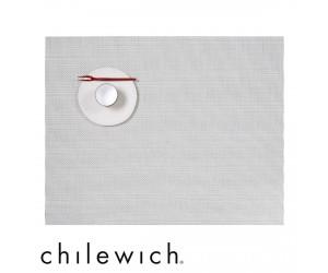 Chilewich Set Rechteckig Mini Basketweave weiß