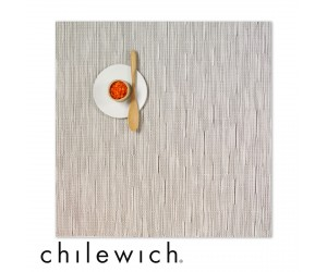 Chilewich Set Quadratisch Bamboo chalk