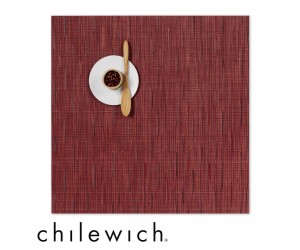 Chilewich Set Quadratisch Bamboo cranberry