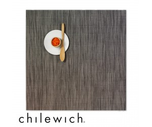 Chilewich Set Quadratisch Bamboo grey flannel