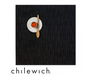 Chilewich Set Quadratisch Bamboo jet black