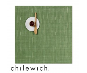 Chilewich Set Quadratisch Bamboo lawn green