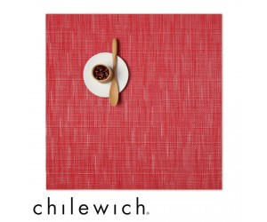 Chilewich Set Quadratisch Bamboo poppy