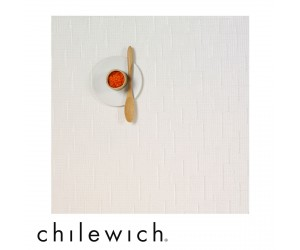 Chilewich Set Quadratisch Bamboo white